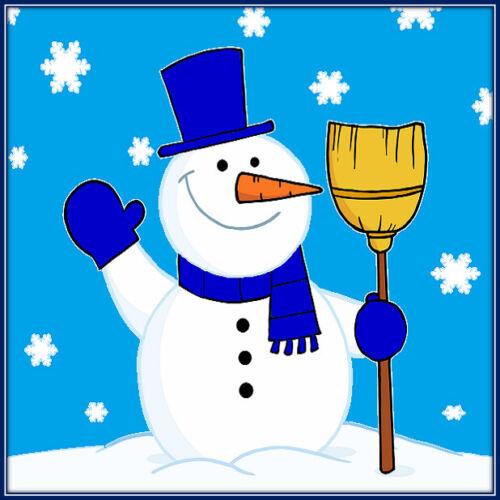 30 Custom Blue Simple Snowman Personalized Address Labels