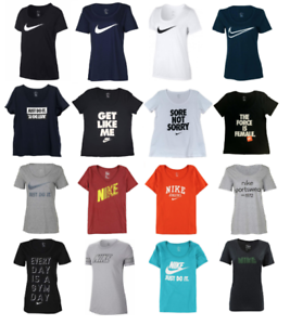 Nike-T-Shirts-Womens-S-to-XL-Authentic-Graphic-Tees-Just-Do-It-Swoosh-Logo-New