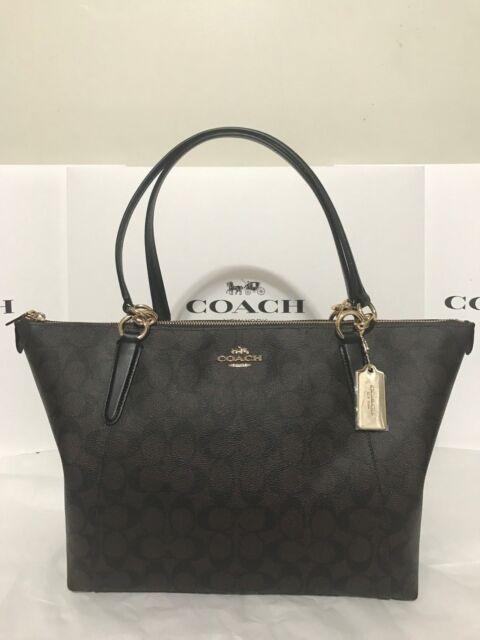 0ff6acd97c85 COACH F58318 Ava Women s Signature Tote Handbag - Brown Black for ...