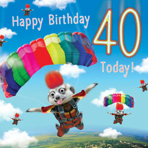 Image Is Loading 40th Birthday Card Skydiving 3D Goggly Eyes Fluff