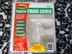 Peachy Details About Plastic Chair Cover Pack Of 2 By Packrite Ss 9050 46 X 76 Moving Storage Andrewgaddart Wooden Chair Designs For Living Room Andrewgaddartcom