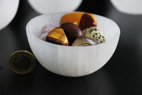 Selenite Satin Spar Crystal Bowl Dish Tumblestone Holder Home Decor