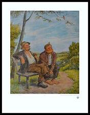 Otto Quante Die Sorglosen Poster Bild Kunstdruck im Alu Rahmen schwarz 60x50cm