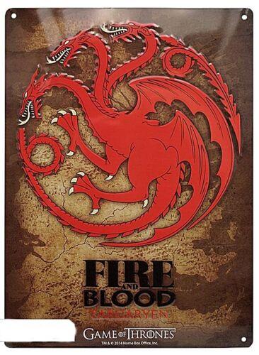 aby Game Of Thrones Targaryen Metal Sign 380mm x 280mm