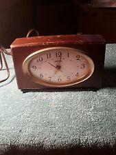 Vintage Sunbeam Electric Alarm Clock Wood Case, Clock Model B002