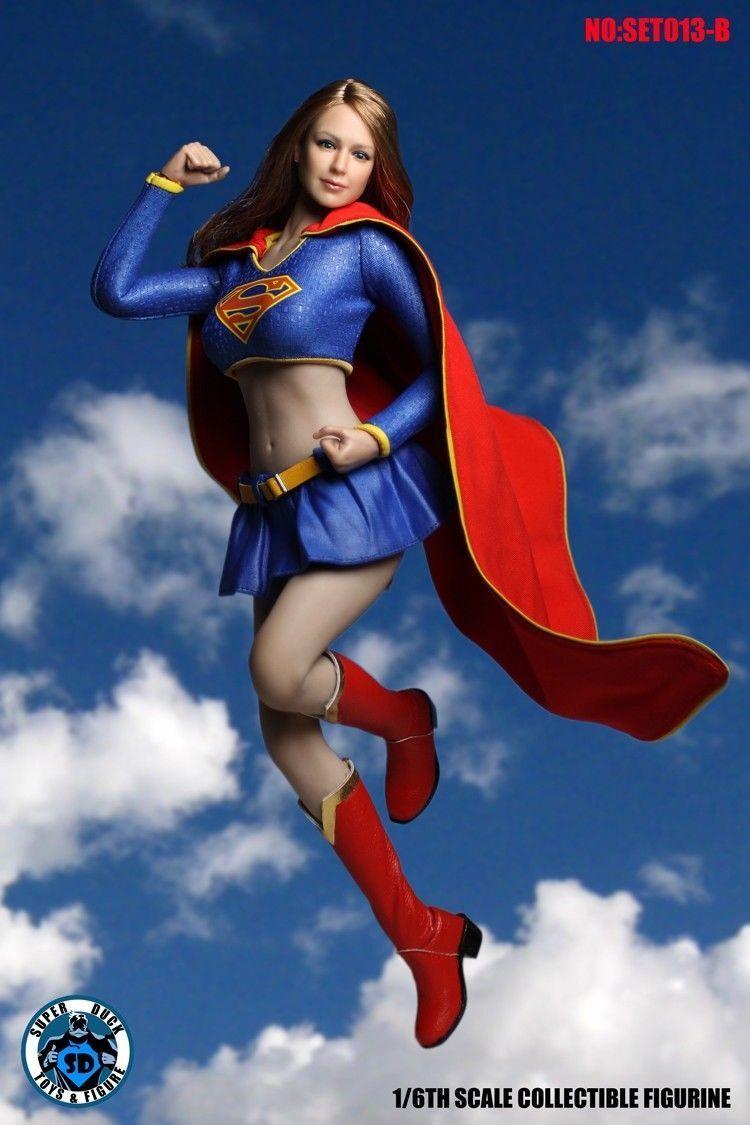 1/6 Super Pato Supergirl cabeza esculpida Conjunto de Ropa F PHICEN bronceado figura SET013B