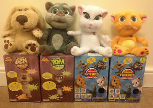 Brand New Talking Tom Ben Ginger Angela Cat Plush App Toy With