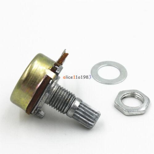 2//5//10PCS B500K //50K//1K Ohm 3 Pins Shaft Linear Rotary Taper Potentiometer WH148