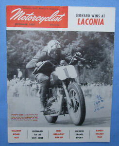 1957 Motorcyclist Motorcycle Magazine Book Velocette Valiant Parilla Racing Bmw Ebay