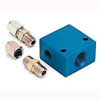 Auto Meter Temperature Manifold Adapter Transmission Temp Gauge 3/8 Tubing