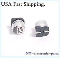 (10pcs) 100uf 16v Smd Capacitors.6.3x5.3mm.