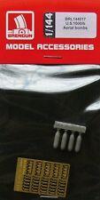 Brengun BRL144017 1/144 PE and Resin U.S.1000lb Aerial bombs (4 pcs.)