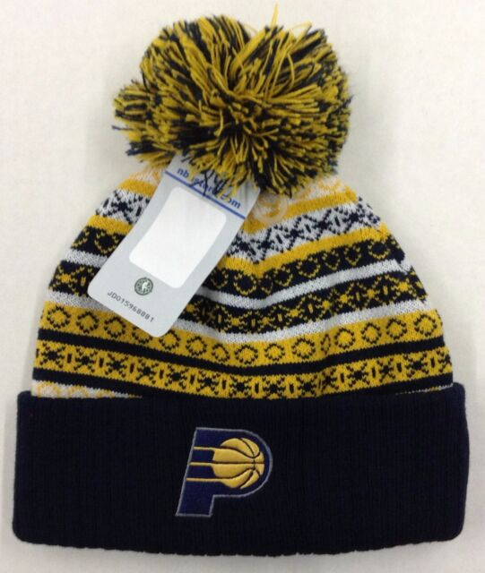 42377cb3baf NBA Indiana Pacers Adidas Cuffed Pom Winter Knit Hat Cap Beanie Style   KZM28 NEW