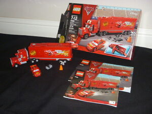 Lego Disney Cars 2 8486 Mack S Team Truck Lightning Mcqueen Retired Complete Set Ebay