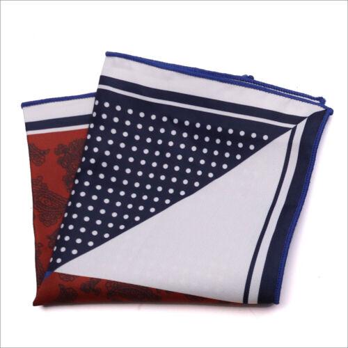 Fashion Mens Silk Handkerchief Plaid Wedding Party Pocket Square Hanky Decor