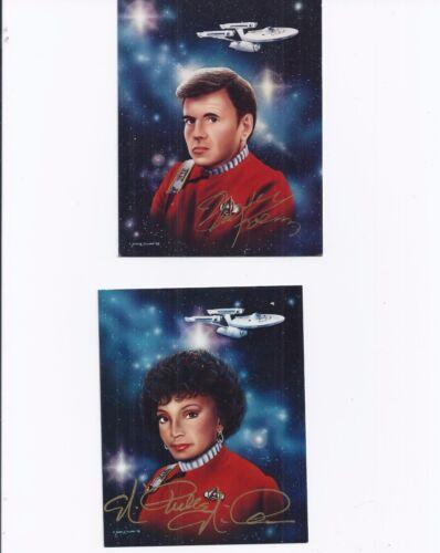Star Trek Las Vegas Convention Signed 4 x 5 Photos