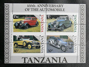 TIMBRES-AUTOMOBILES-TANZANIE-1986-BLOC-FEUILLET-N-42-PIQUAGE-A-CHEVAL-TBE