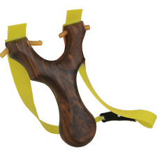 1pc Outdoor Toy Wooden Handle Slingshot Catapult Flat Rubber Bands Boy's Game