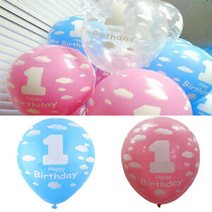Baby 1st first birthday party decoration balloon scene for Balloon decoration courses dvd