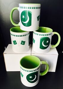 Details about Pakistan Flag Mugs - Ideal Gift For The People Who Love  Pakistan-(2 Mugs)