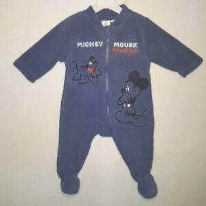 731d6ab145eb8 DISNEY surpyjama pyjama polaire MICKEY bleu 1   3   6   12 ou 18 ...