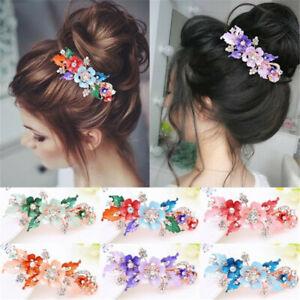 Women-Headwear-Accessories-Flower-Barrettes-Cute-Hairpin-Crystal-Hair-Clip