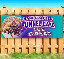 Handcrafted Funnel Cake Ice Cream Advertising Vinyl Banner Flag Sign Carnival
