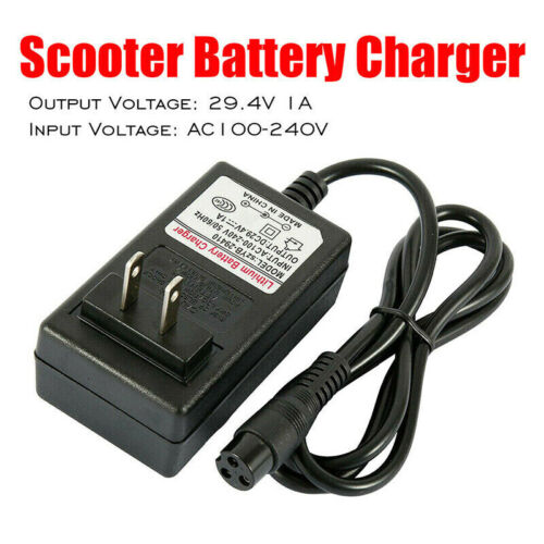 29.4V 1A Battery Charger Power Adapter for Hoverboard Balancing Scooter Wheel US