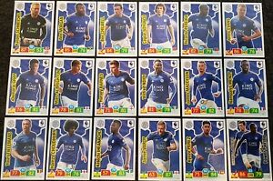 2019-20-PANINI-English-Premier-League-Soccer-Cards-Leicester-Full-Team-Set