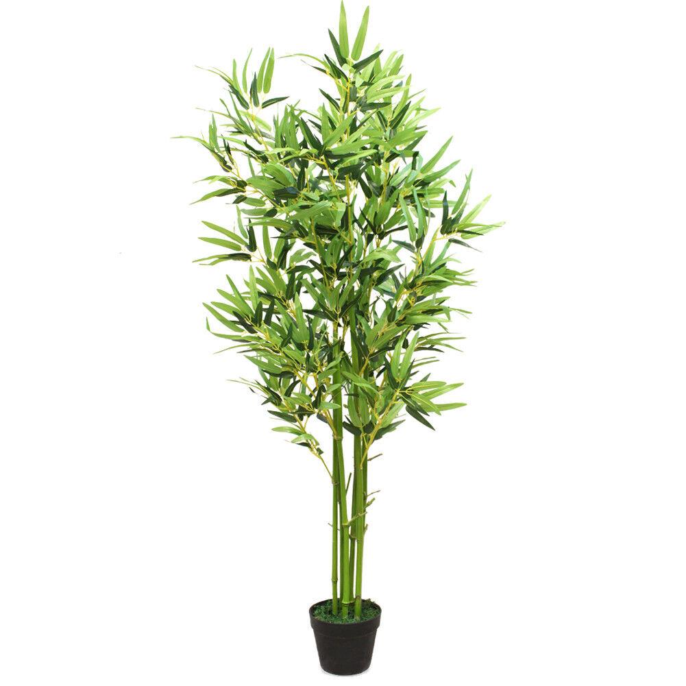 5-Feet Simulation Faux Bamboo Fake Grün Leaf Potted Plant Bonsai decor