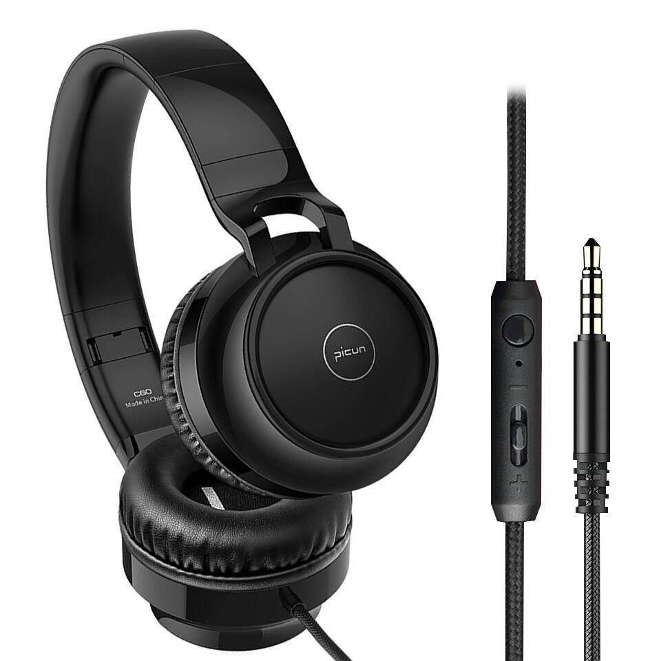 Wired Foldable Headphone Over the Ear Headset Stereo Super Bass Earphone Mic 1