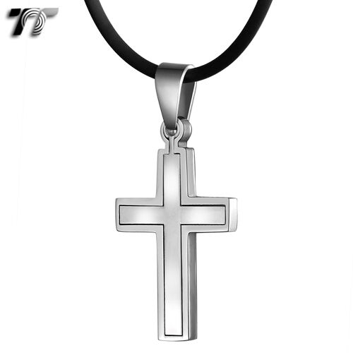 Prettyia Unisex Hip Hop Crucifix Religious Dangle Drop Earrings Stud