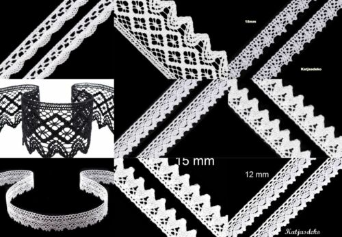 1 ou 5 M battant DENTELLE GALON DENTELLE Coton Maison de campagne schmuckband écusson