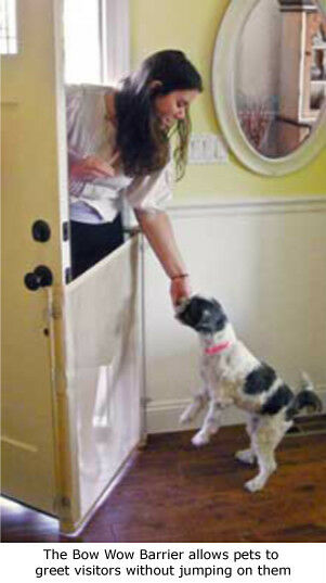 Retractable Exterior Cafe Mesh Door Barrier - For a Dog, Cat or Pet BRAND NEW