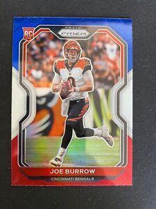 JOE BURROW RC 2020 PRIZM RED WHITE BLUE PRIZMS NFL AMERICAN FOOTBALL CARD #307