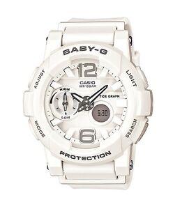 Casio Baby-G * BGA180-7B1 Anadigi G-Lide Chic White Resin Women COD PayPal
