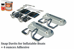 Details about Snap Davits for Inflatable dinghy & Swim Platform with Quick  Release kit + Glue