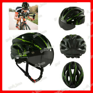 Cycling Helmet Adults MTB Mountain Road Bike Bicycle Helmets With Visor Goggles