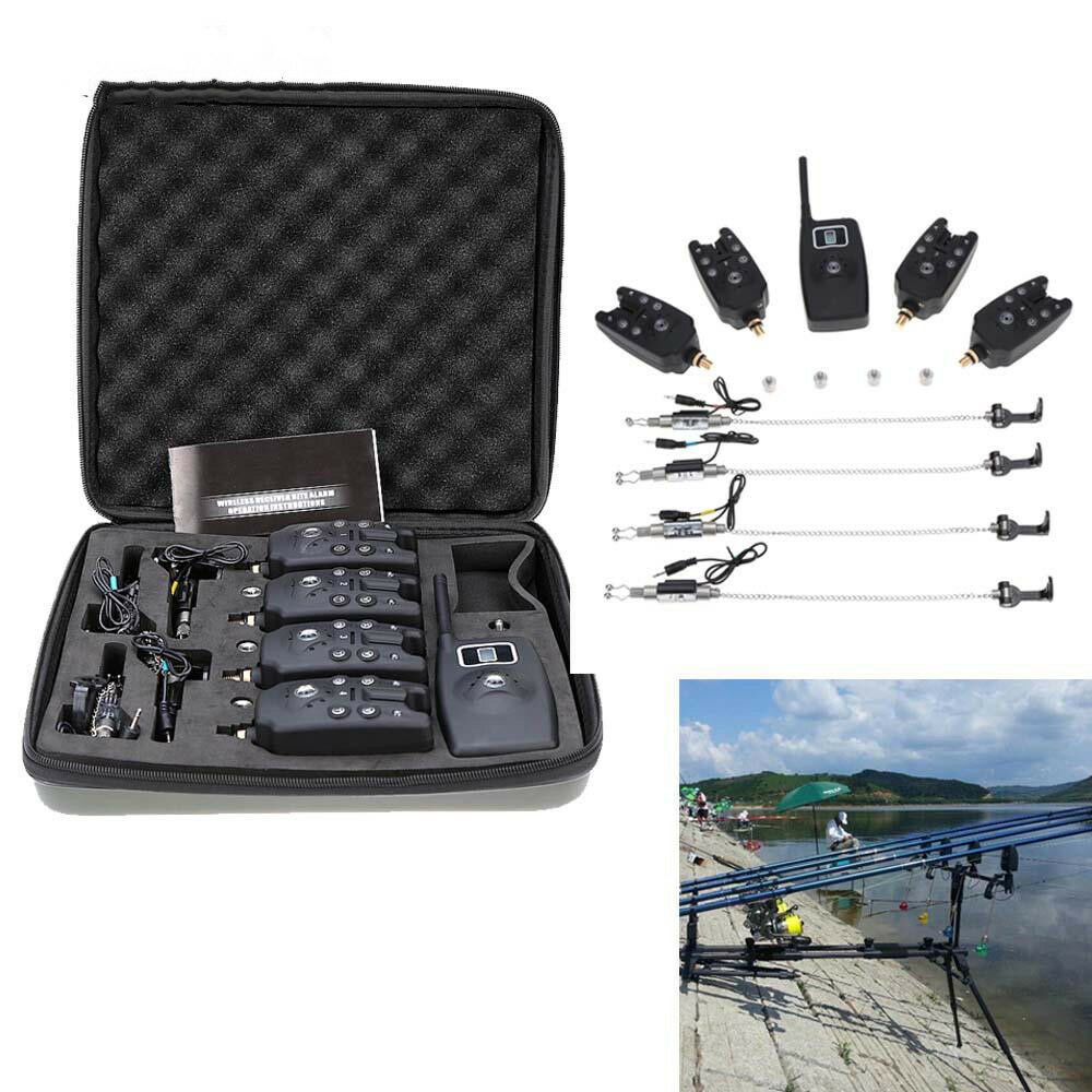 Wireless Bite Alarm Carp Fishing Gardner V2 Remote System Indicator Rovex Set X