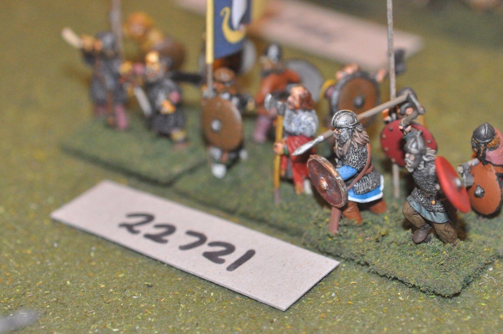 25mm dark ages   viking - spearmen 12 figs inf - inf (22721)