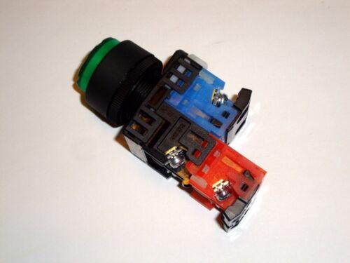 FUJI Electric Green Illuminated Push Button Switch NO NC 2 pole AR22E0L E3