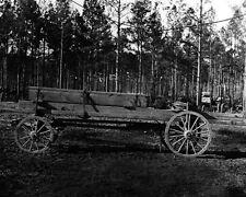 New 8x10 Civil War Photo: Pontoon Wagon of 50th Engineers, Rappahannock Station