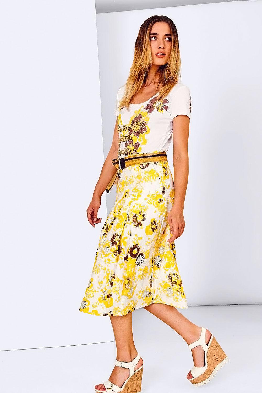 NWT  ITALIAN DESIGNER SISTES Women Skirt Cotton Embroidery Sizes 8 10 12 14