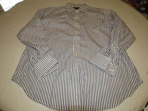 Ralph Lauren 17 1/2 35 Philip white long sleeve cotton button up Shirt GUC@