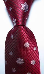 New-Classic-Checks-Red-Black-White-JACQUARD-WOVEN-100-Silk-Men-039-s-Tie-Necktie