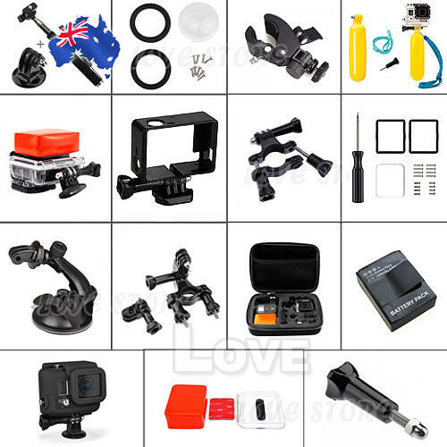 OZ D Pack Storage Case Head Chest Mount Accessories for GoPro Hero 5 4 3 2