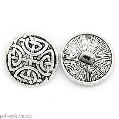 """50 Creme Holz Knopf Knöpfe Buttons Rund Gravur /""""handmade with love/"""" M12296 LP"""