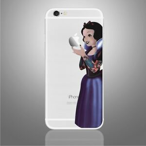 wholesale dealer fa55e 38a09 Details about Iphone decal sticker tattoo Snow white art for Apple Mobile  Iphone 6 plus