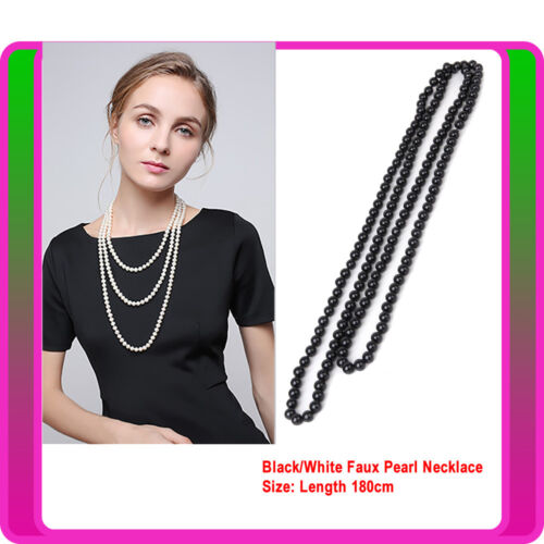 1920 20s Long Necklace Gatsby Flapper Costume Jewellery Ladies Costume Accessory