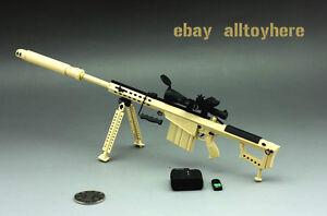 BattleField 1/6 Barrett M82A1 M107A1 Full Metal Sniper Rifle